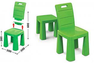 Детский стул табурет трансформер, 2 в 1, стульчик 04690/2 зелёный
