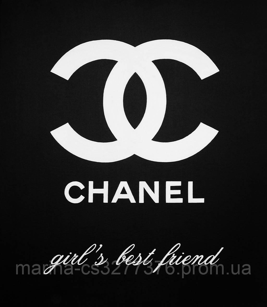 Картина с блестками Шанель лучший друг девушек 60х70 см холст масло акрил галерейная натяжка поп-арт