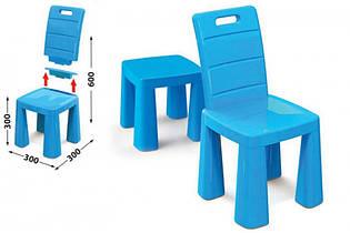 Детский стул табурет трансформер, 2 в 1, стульчик 04690/1 синий