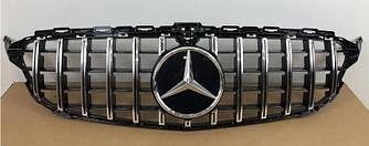 Решетка радиатора Mercedes C W205 (2018+) стиль AMG GT