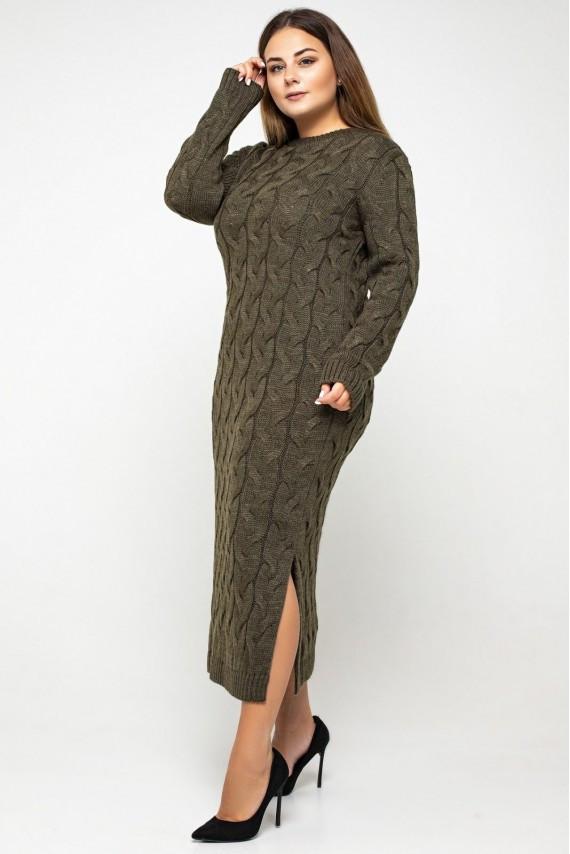 Вязаное платье макси с 42 по 56 размер