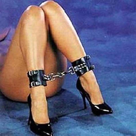 Черные кожаные наножники - b, фото 2