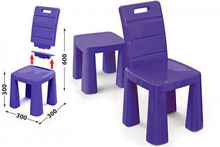 Детский стул табурет трансформер, 2 в 1, стульчик 04690/4 фиолетовый