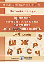 Календарно-тематичне планування логопедичних зайняти. 1-4 клас