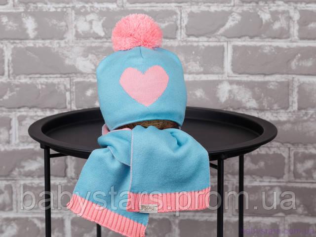 детская шапочка с шарфиком