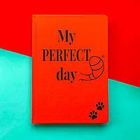 Блокнот з котом Хвіст та Вуса Diary My perfect day Червоний українською