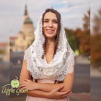Кружевной шарф в церковь, капор из гипюра, платок на голову в храм, фото 1