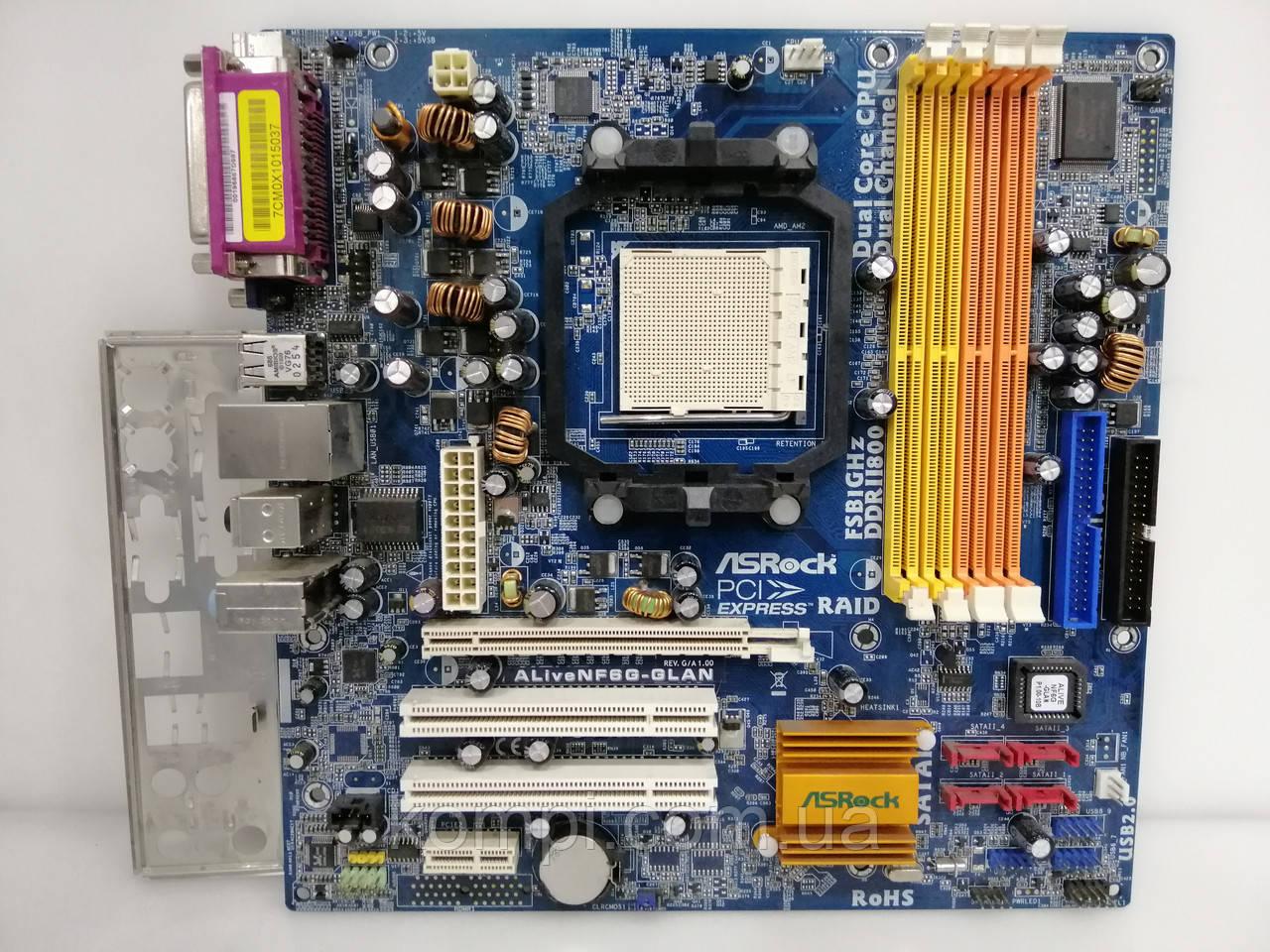 Материнская плата ASRock ALiveNF6G-GLAN AM2 DDR2