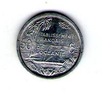 Французская Океания 50 сантим 1949 год алюминий
