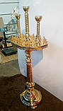 Подсвечник трехглавый на 62 свечей восьмигранный, фото 4
