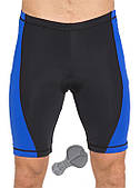 Велошорты мужские с памперсом Radical Racer PRO, чёрные с синими вставками
