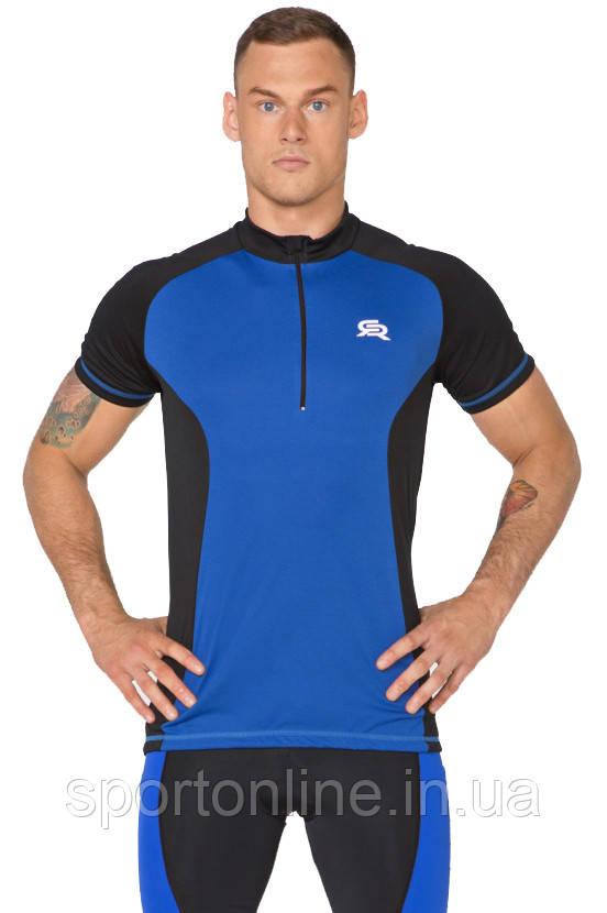 Велофутболка мужская компрессионная Radical Racer SX, синяя
