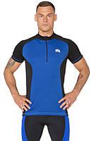 Велофутболка мужская компрессионная Radical Racer SX, синяя, фото 1