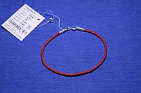 Шовковий браслет Мотузка зі срібною вставкою 18,5 см 1518