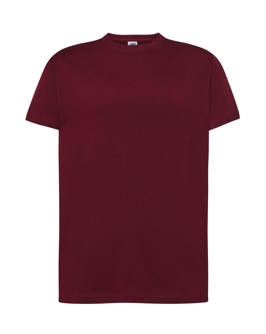 Мужская футболка JHK REGULAR T-SHIRT цвет темно-бордовый (CA)