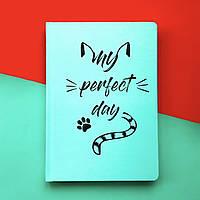 Блокнот з котом Хвіст та Вуса Diary My perfect day М'ятний українською