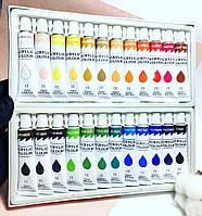 Акриловые краски для дизайна ногтей, набор 24шт по 12мл