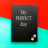 Блокнот з котом Хвіст та Вуса Diary My perfect day Чорний українською