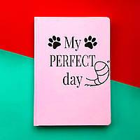 Блокнот з котом Хвіст та Вуса Diary My perfect day Рожевий українською