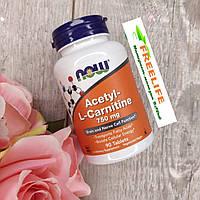 Now Foods Ацетил-L-карнитин 750 мг 90 шт, официальный сайт