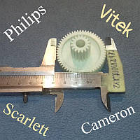 Шестерня для мясорубки Vitek, Scarlett, Cameron, Philips (Z=55; z=16; D=46,5; d=18,2; H=32,6) Украина