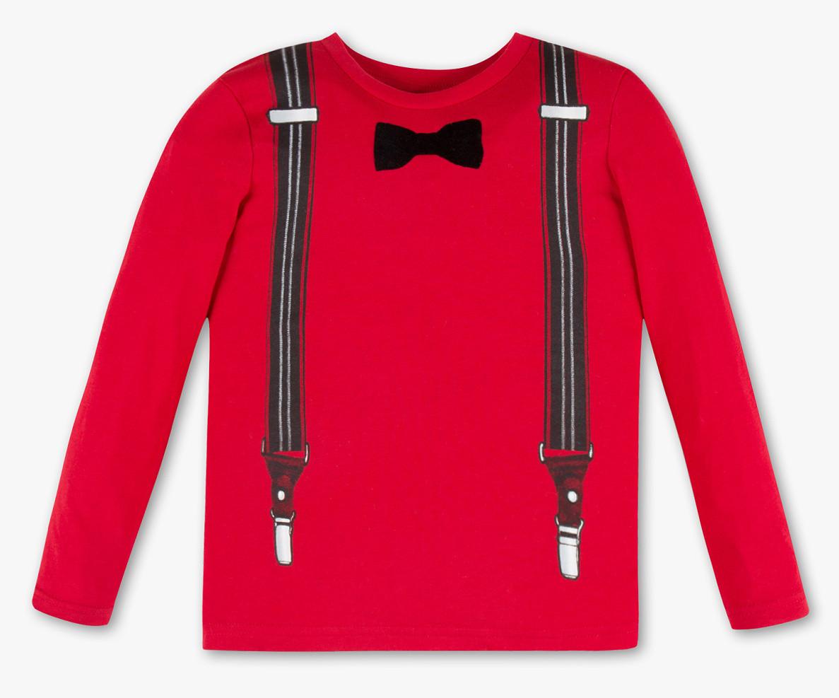 Червоний реглан для хлопчика з метеликом C&A Німеччина Розмір 116