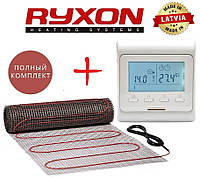 Теплый пол Ryxon HM-200/ 10,0 м² нагревательный мат с программируемым терморегулятором E51
