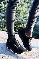 Зимние женские ботинки натуральная замша, кроссовки зимние