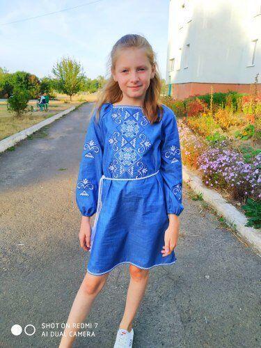"""Детское вышитое платье """"Кира"""" , 146 (рост), 5"""