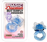 Виброкольцо на пенис со стимуляцией клитора Basis Essentials Butterfly Enhancer Оргазм гарантирован