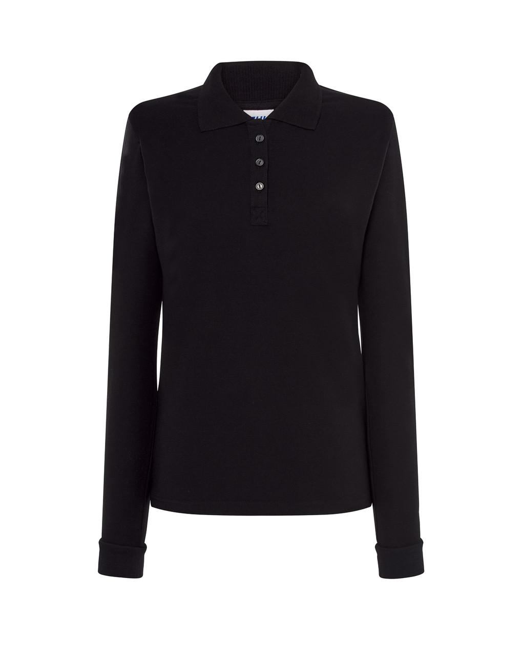 Женская футболка-поло JHK POLO REGULAR LADY LS цвет черный (BK)