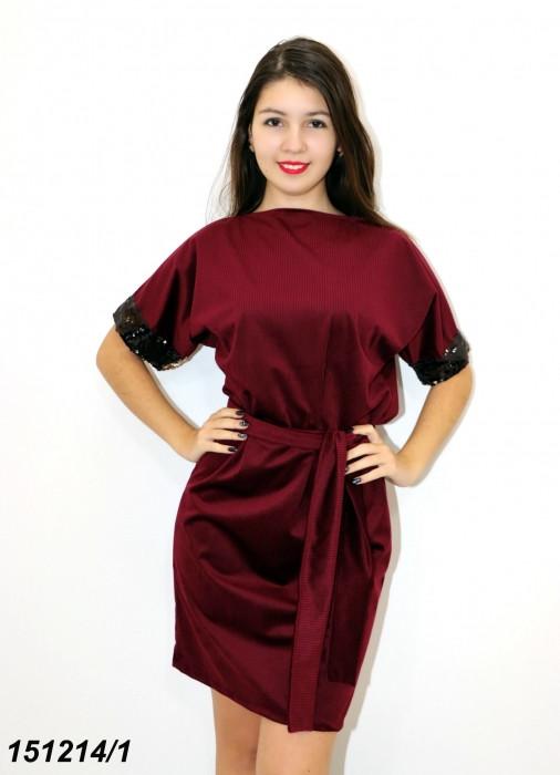 Платье трикотажное с пайетками 42 44 46