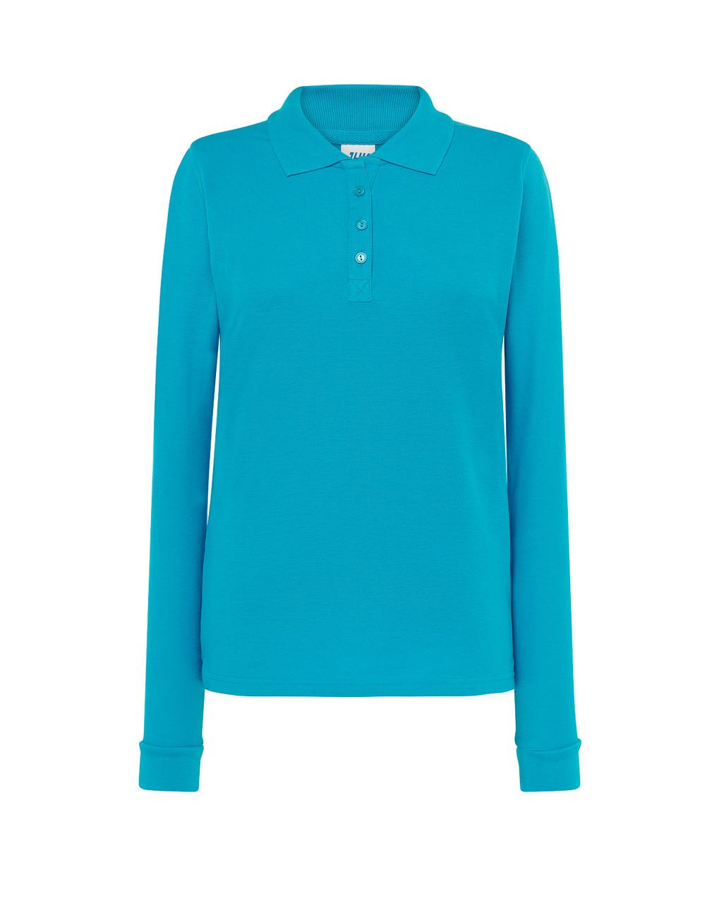 Женская футболка-поло JHK POLO REGULAR LADY LS цвет бирюзовый (TU)