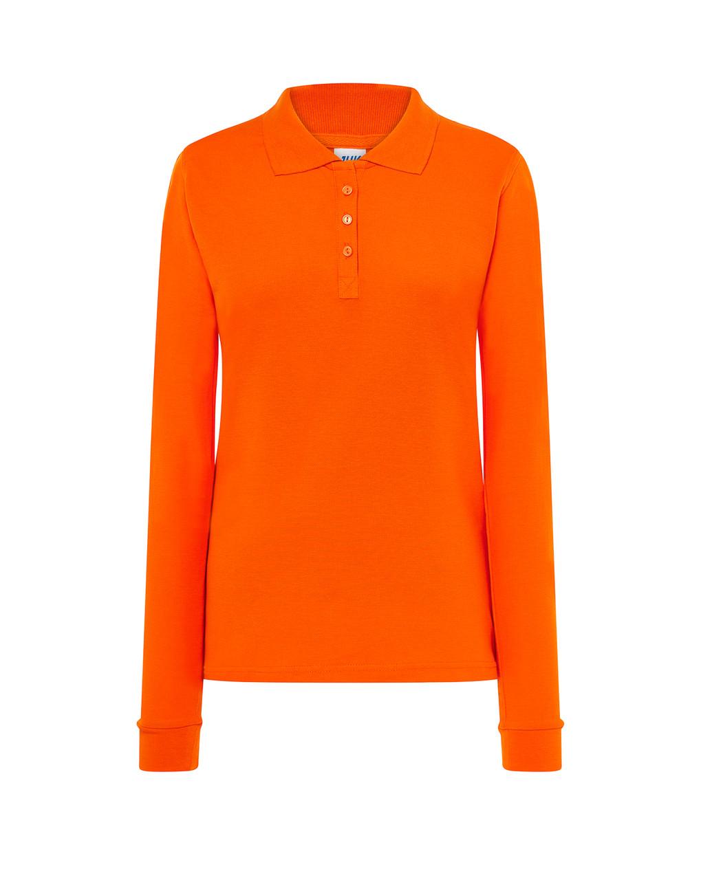 Женская футболка-поло JHK POLO REGULAR LADY LS цвет оранжевый (OR)