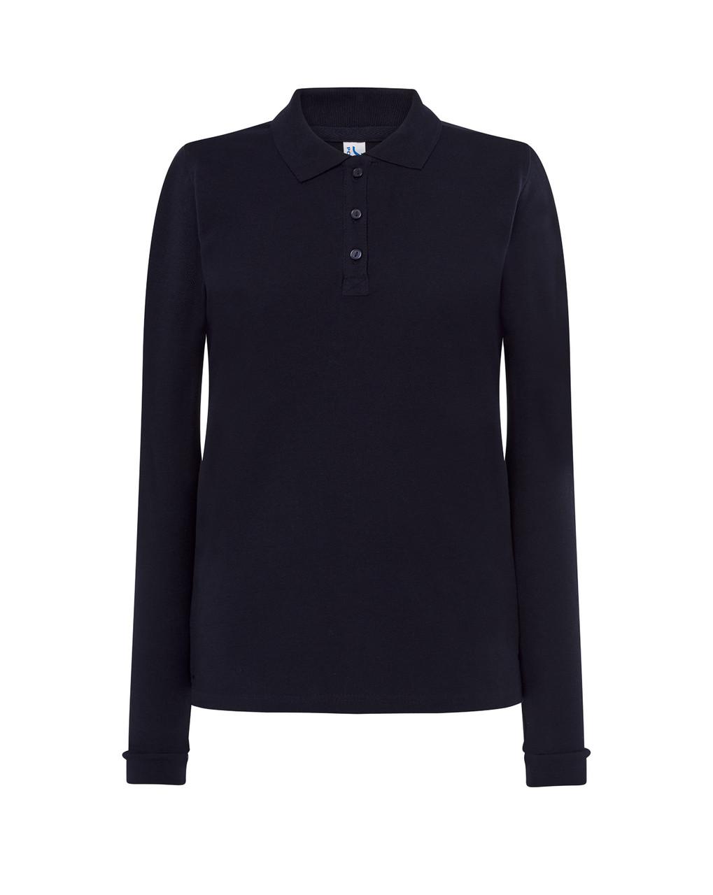 Женская футболка-поло JHK POLO REGULAR LADY LS цвет темно-синий (NY)