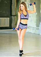 Шорты спортивные Totalfit H11-P30 Розовый, Синий, фото 1