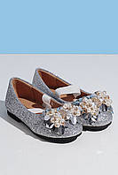 Paliament Туфли серебристые для девочки 203-9026-2