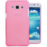 Чехол силиконовый Denser для Samsung A500H Galaxy A5 прозрачный розовый