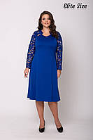 Нарядное платье с немного расклешенной юбкой размеры: 54 56 58 60