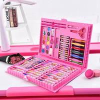 Художественный набор для детского творчества 86 предметов, розовый
