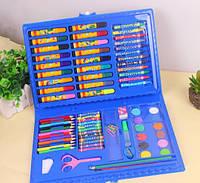 Художественный набор для детского творчества 86 предметов, голубой