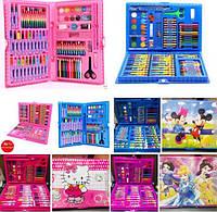 Детские художественные наборы в чемоданчике !!!ОПТ!!!, 86 предметов (голубой, розовый)