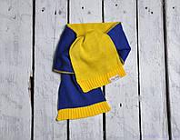 Детский шарф двухцветный, сине-желтый, фото 1