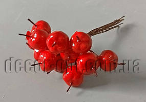 Райские яблочки красные в пучке Ø15мм/12см 12шт SM8853