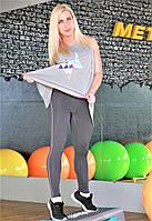 Женская майка для фитнеса и улицы Totalfit 32-P26 серая, фото 1
