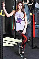 Женская майка для фитнеса и улицы Totalfit 32-P22 серая M, фото 1