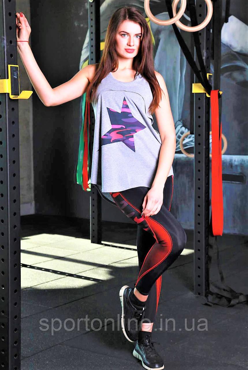 Женская майка для фитнеса и улицы Totalfit 32-P22 серая M