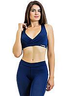 Топ для фитнеса Totalfit T24-C7 тёмно-синий с декольте