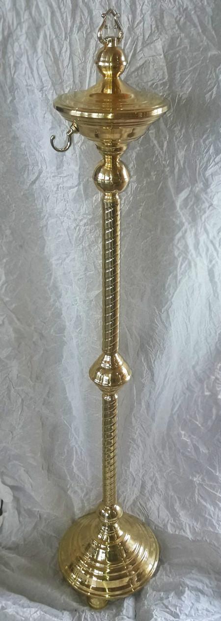 Подставка для кадила из латуни, высота 108см
