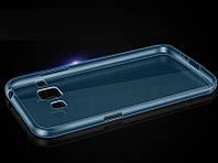 Силиконовый чехол Densen для Samsung G350E Galaxy Star Advance прозрачный синий